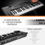 M-Audio Oxygen 49 MK IV 49-Key USB MIDI Keyboard/Drum Pad Controller with VIP Software Download and Samson Meteor Mic USB Microphone Accessory Bundle 1
