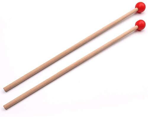 Red Marimba Sticks Mallets Xylophone Piano Hammer Percussion
