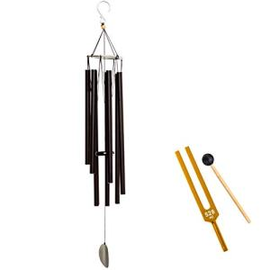 528 Hz Windchime | Solfeggio Healing Frequencies | with Bonus 528Hz Gold Tuning Fork & Mallet for Sound Healing Therapy & DNA Repair