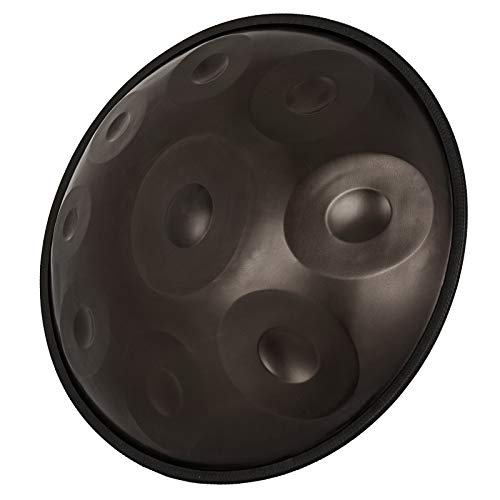 Happybuy Handpan In D Minor 9 Notes 22 inches Steel Hand Drum with Soft Hand Pan