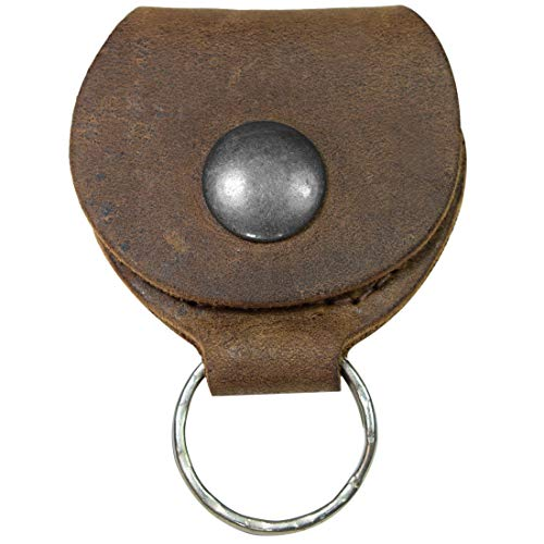 Hide & Drink, Rustic Leather Guitar Pick Holder, Keychain Key Organizer, Handmade Includes 101 Year Warranty :: Bourbon Brown