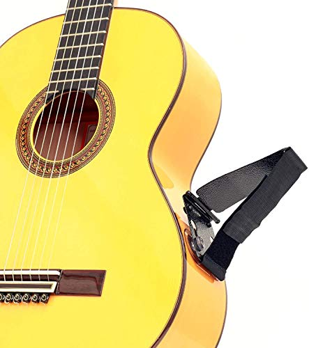 TENOR TPGS+ Professional Ergonomic Guitar Rest, Guitar Lifter, Guitar Foot Stool, Footstool Strap, Professional Posa Guitar Support for Classical, Flamenco, Acoustic or Arch Top Guitar Players.