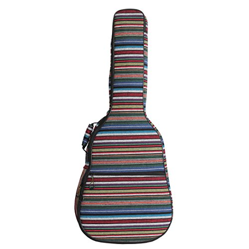 Glenmi Bohemian Acoustic Guitar Case for Girls,Soft Foam Padded 40 41 Inch classical folk Guitar Gig Bag Backpack with Neck Protector Pillow Pad