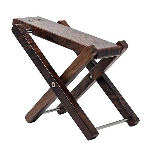 Wood Guitar Footstool Black Walnut Solid Wood Footrest 3-Level Adjustable Height Folding Widen Guitar Pedal