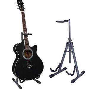 A-Frame Folding Cello/Bass Stand Adjustable Upright Guitar Stand Classic Extended Height-Fits Acoustic,Instrument Guitar Stands & Hangers -Accessories Home Or Studio