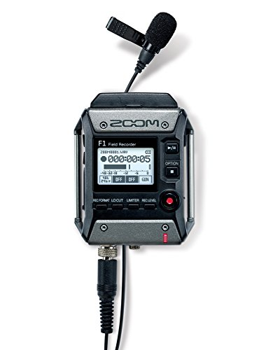 Zoom F1-LP Lavalier Body-Pack Recorder, Audio for Video Recorder, Records to SD Card, Battery Powered, Includes Lavalier Microphone