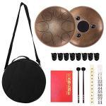 8 Notes Steel Tongue Drum, Steel Handpan Drum