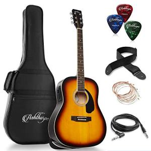 Full-Size Dreadnought Acoustic-Electric Guitar Bundle