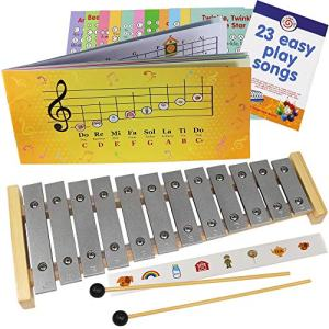 Play-by-Picture Xylophone with Sheet Music Book