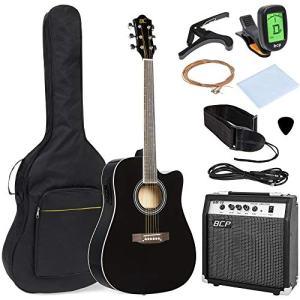 Acoustic Electric Cutaway Guitar Set w/ 10-Watt Amp, Capo, E-Tuner