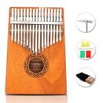 17 Keys Thumb Piano Portable Thumb Finger Piano Mahogany Marimba