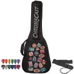 ChromaCast World Tour Graphic Two Pocket 3/4 Size Acoustic Guitar Padded Gig Bag, with Pick Sampler & Guitar Strap (CC-A3/4PB-BAG-WT-KIT-1)