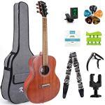 Beginner Acoustic Guitar 6 Metal Strings Mahogany Top Guitar Starter Kit