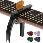 Guitar Capo, TANMUS 3in1 Zinc Metal Capo for Acoustic and Electric Guitars