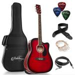 Full-Size Dreadnought Cutaway Acoustic-Electric Guitar Bundle
