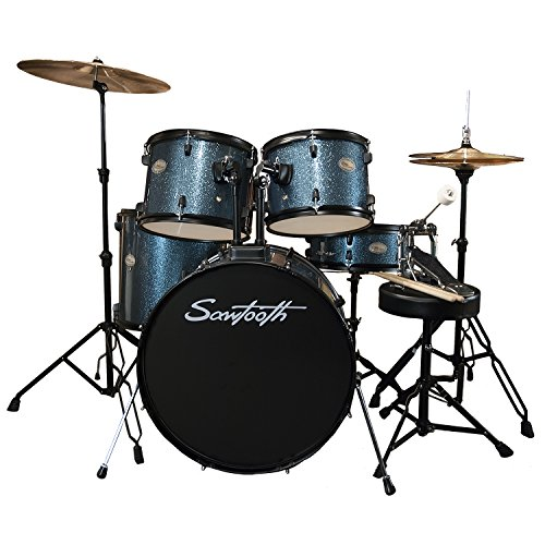 Sawtooth Full Size Student Drum Set with Hardware and Cymbals