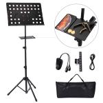 Music Stand EXJOY Sheet Stand Collapsible for Orchestra Professional Music Sheet Stand with Clip Holder Light and Carring Bag Portable Light Weight Fit for Instrument Performance