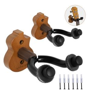 Wall Mount Hanger stand 2pack wooden fits Mandolin Ukele