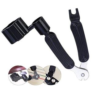 3 In 1 Multifunctional Guitar Maintenance Tool/String Peg Winder + String Cutter + Pin Puller Instrument Accessories-Designed to Fit Most Guitars