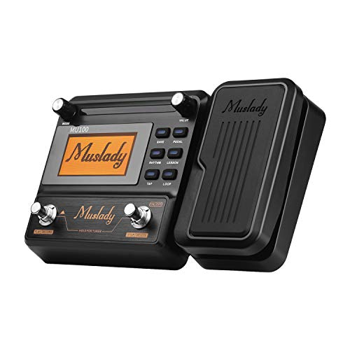 Pedal,Guitar Multi-effects Processor,Muslady MU100 Electric Guitar Effect Pedal Supports 180s Loop Recording Tuner Tap Tempo Rhythm Setting Scale & Chord Lesson Functions