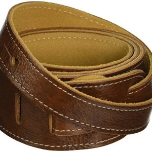 """Perri's Leathers LTD Guitar Strap, 2"""" Wide Deluxe Italian Leather, Super Soft Suede Backing, Adjustable Length, (BM2-6554) Chestnut, Made in Canada"""