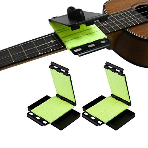 LUTER 2Pcs/Pack Guitar Fretboard String Cleaner Scrubber Cleaning Cloth Maintenance Care Kit for Guitar Bass Mandolin Ukulele 11x6.6cm/4.33x2.60""