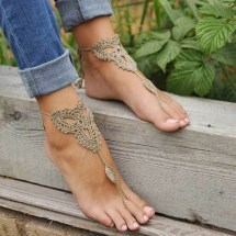 Bare Feet Ankle Bracelets