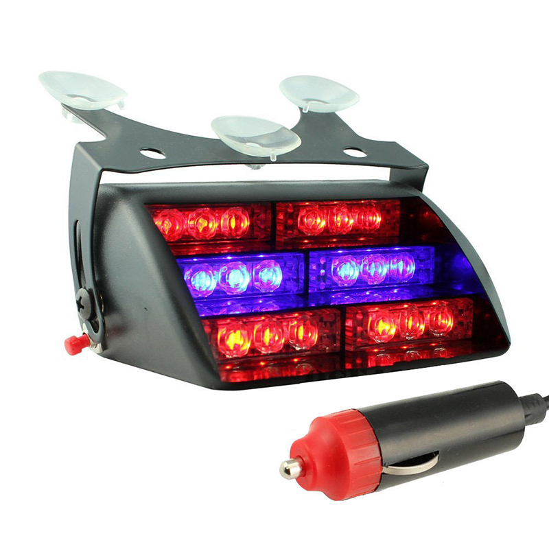 Car 18 Led 3 Flashing Mode Emergency Vehicle Dash Warning