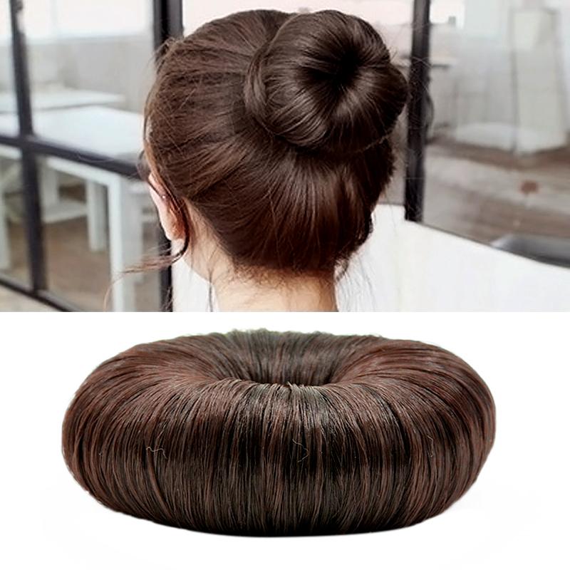 Women Hairpiece Hair Styling Tool Bun Maker Ring Donut