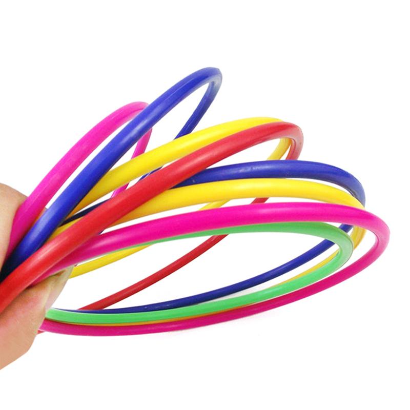 1 Set Kids Children Outdoor Plastic Ring Toss Quoits