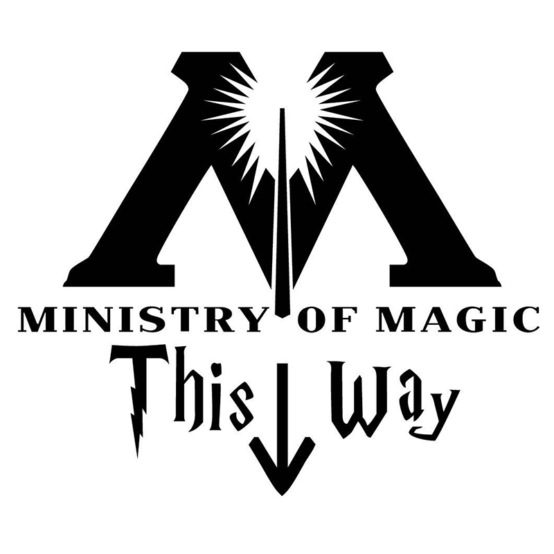 Ministry Of Magic This Way Inspired Toilet Sticker Funny