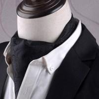 ascot neck scarves men mens paisley jacquard dots ties