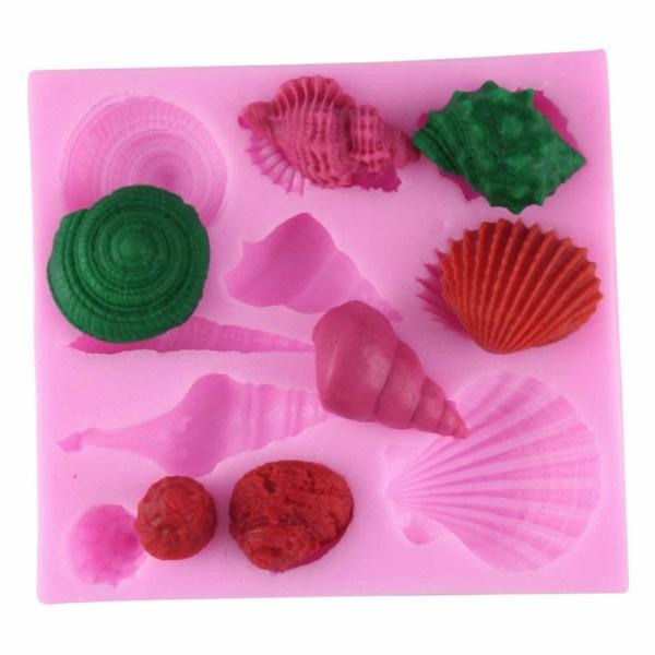 Sea Shell Seashell Silicone Cake Mold Fondant Chocolate