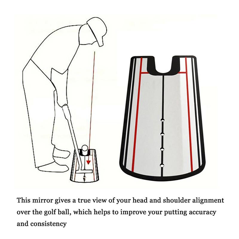 Golf Putting Mirror Training Fine Posture Eyeline
