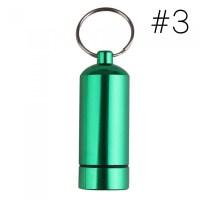 Medicine Bottle Keychain Case Container Waterproof Holder ...