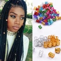 10/30/50pcs Cylinder Dreadlock Hair Beads Tibetan Decor ...
