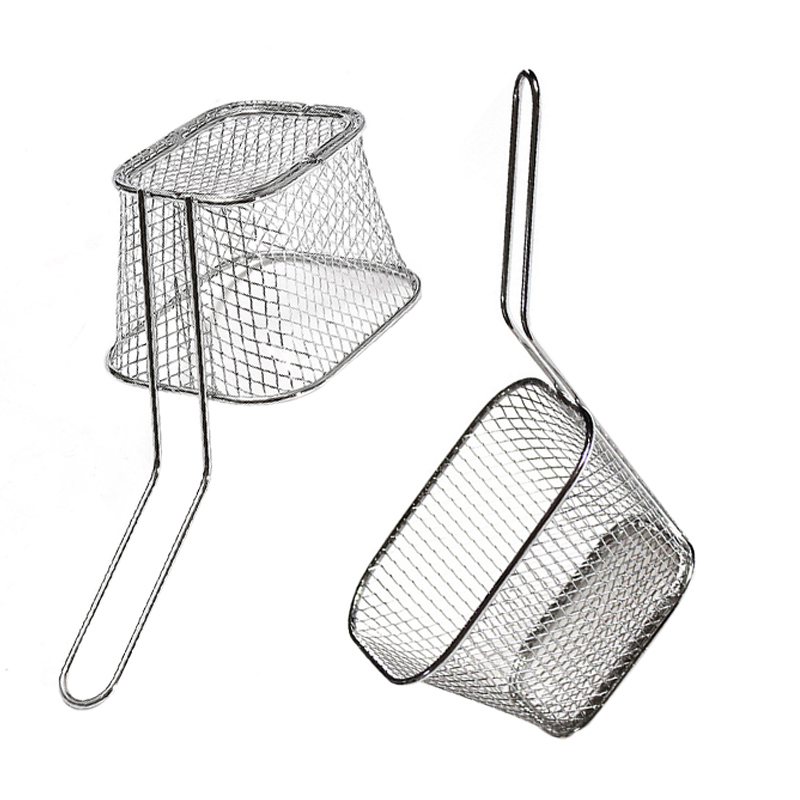 Mini Frying Net Square Basket Strainer French Fries Fryer