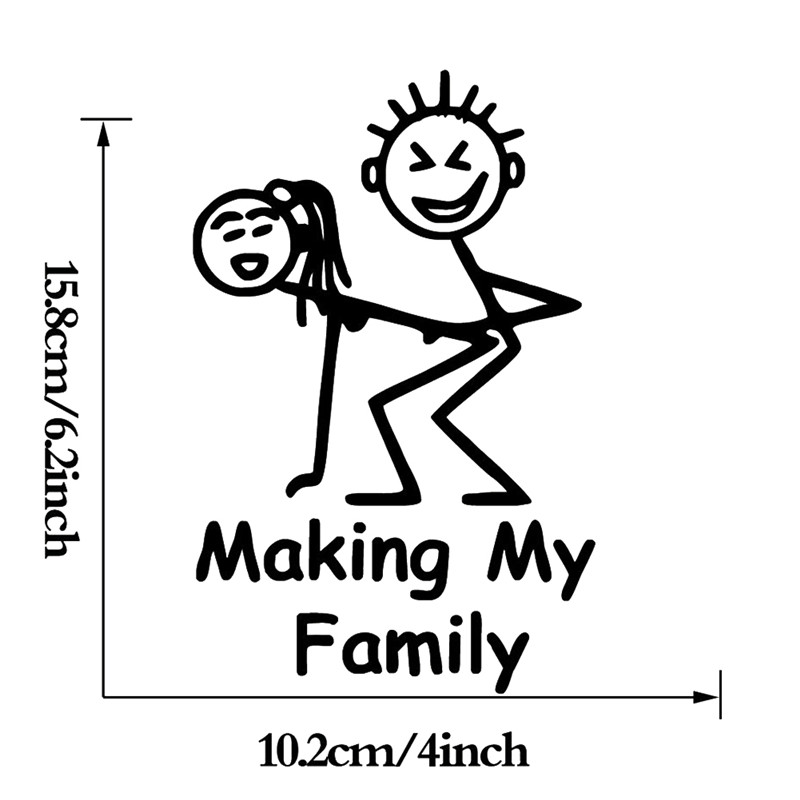Making My Family Stick People Decal Funny Car Vinyl