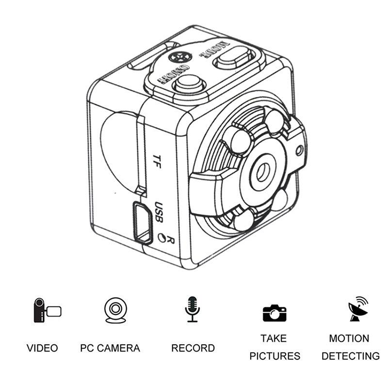 Mini SQ8 Full HD 1080P Camera DV Sports IR Night Vision