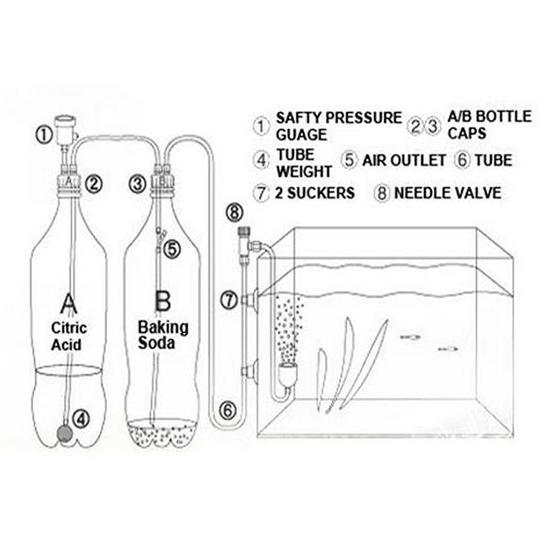 Complete DIY CO2 generator system Kit CO2 diffuser planted