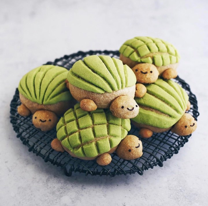 ¡Esta repostera creó conchas de matcha en forma de tortuga!