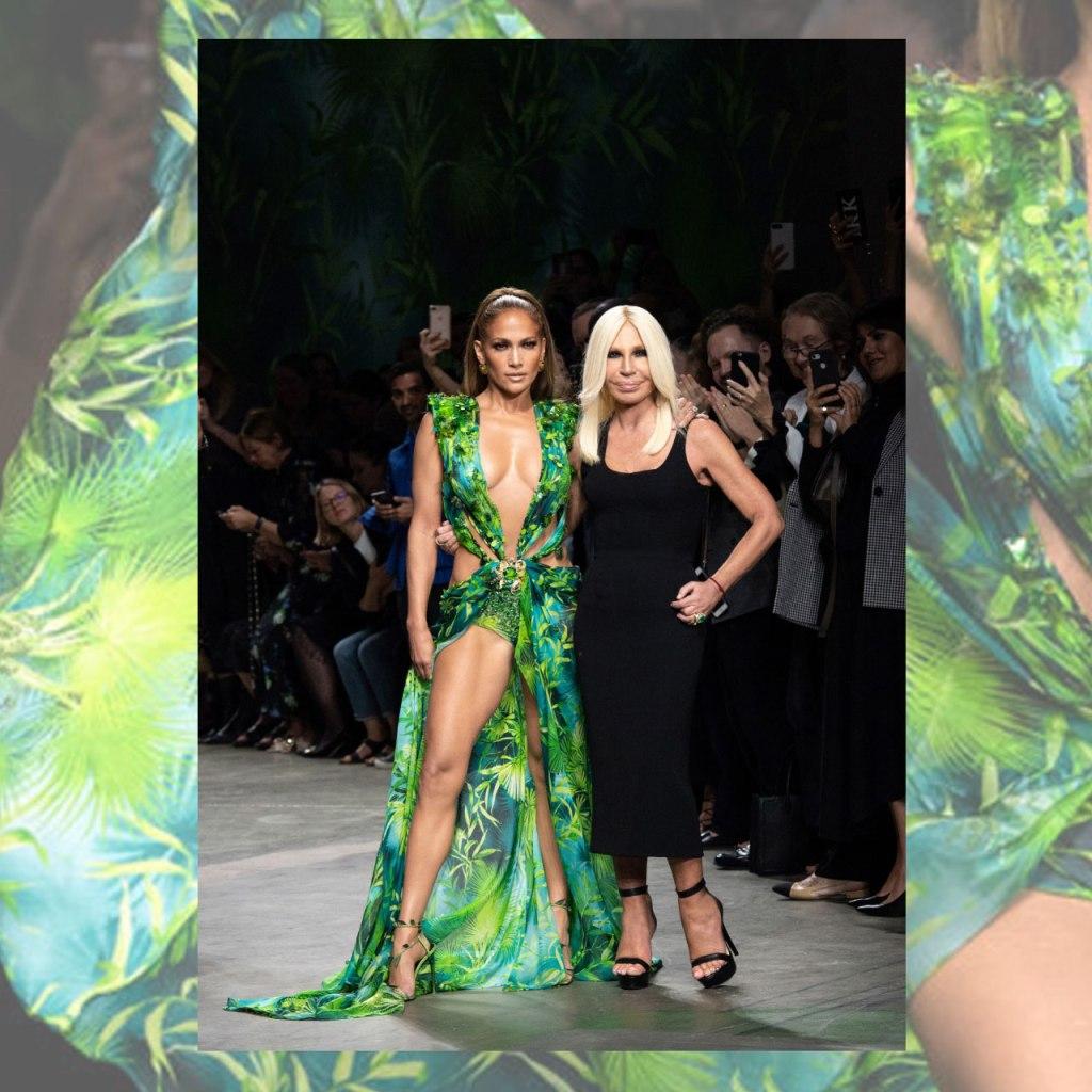Jennifer Lopez volvió a ponerse su icónico vestido Versace para SNL