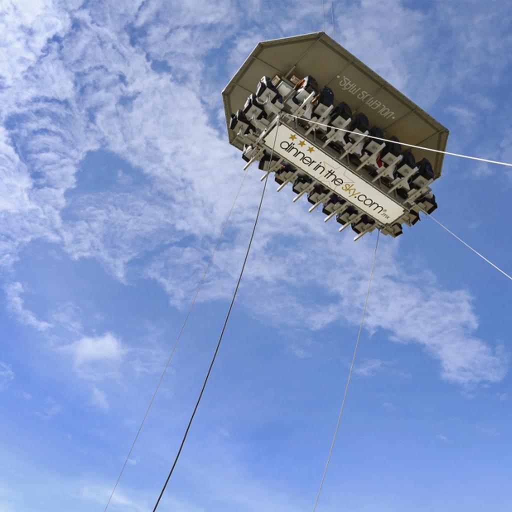 Dinner in the sky: la experiencia que debes vivir en la CDMX
