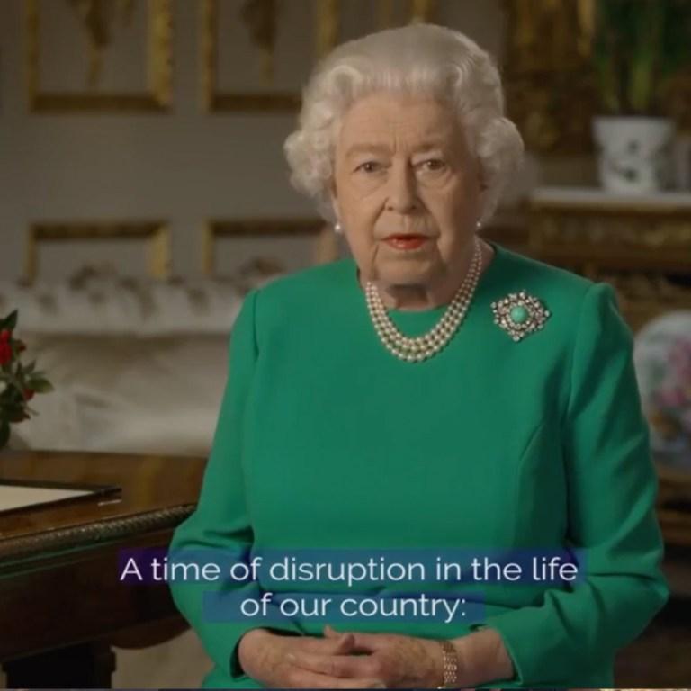 La reina Isabel acaba de abordar la crisis del coronavirus con un raro discurso
