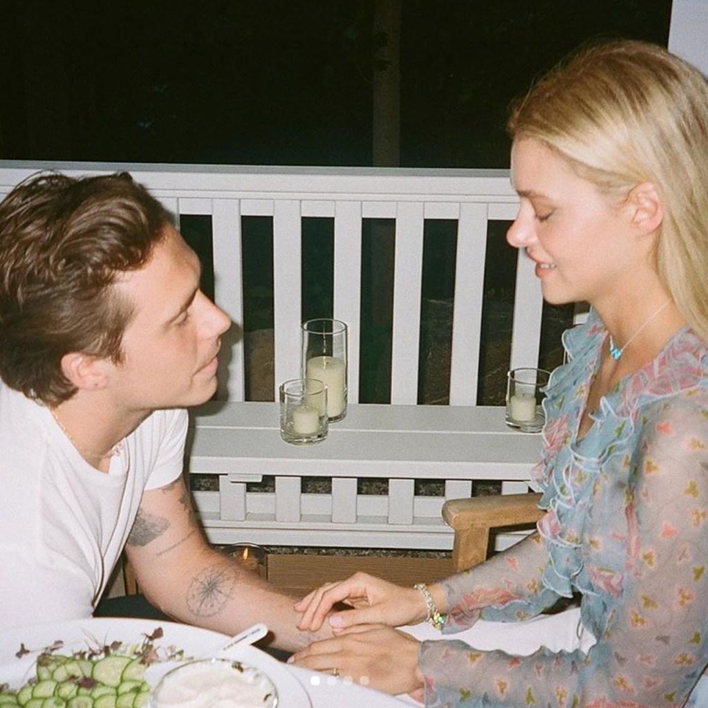 Brooklyn Beckham compartió (tiernísimas) fotos de su compromiso con Nicola Peltz