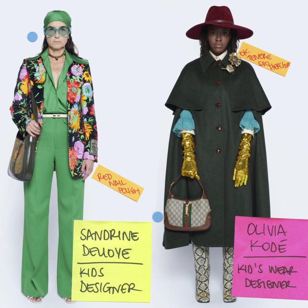 Gucci presenta su colección Epilogue con miembros del staff, en vez de modelos