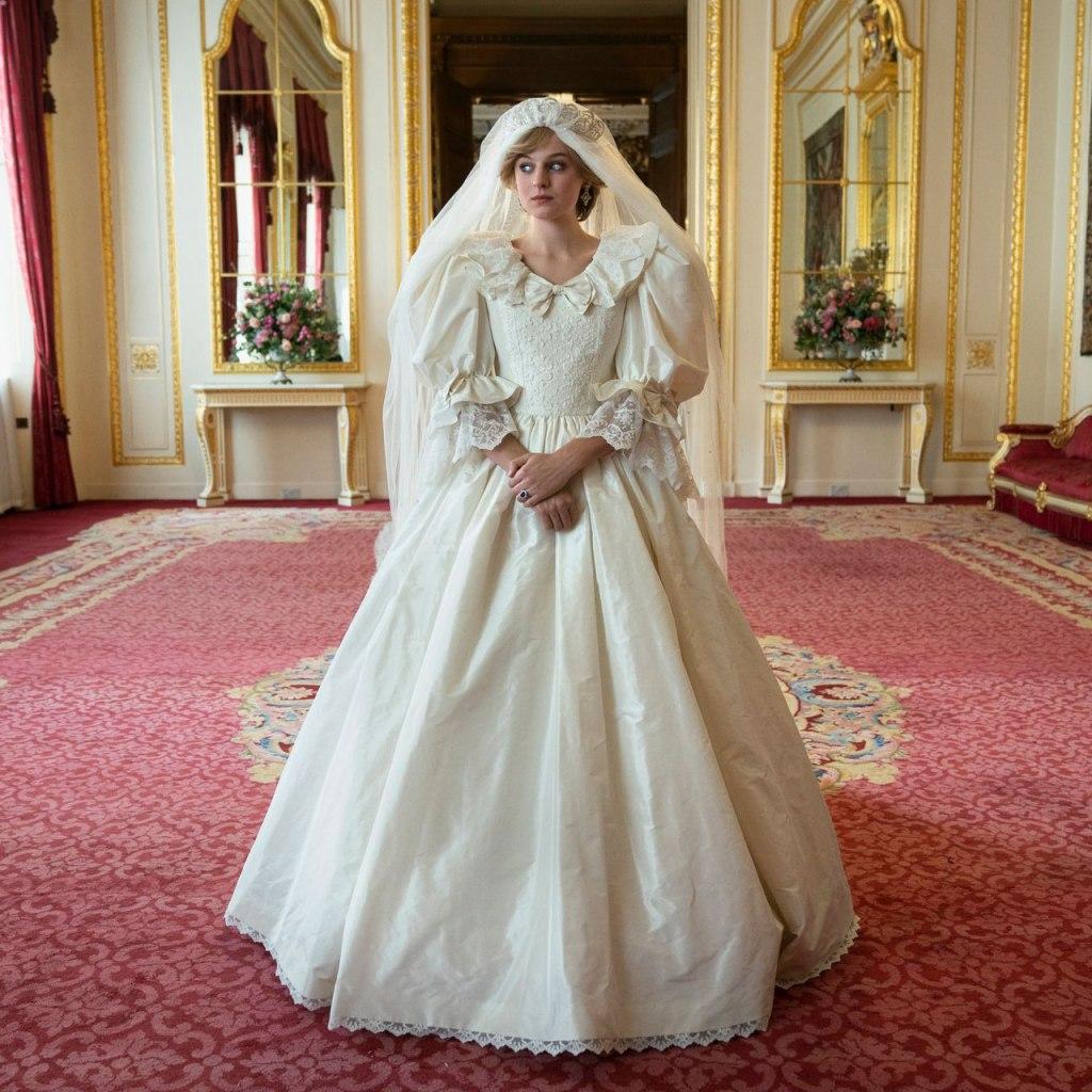 Emma Corrin reveló este detalle sobre el vestido de novia de Lady Di