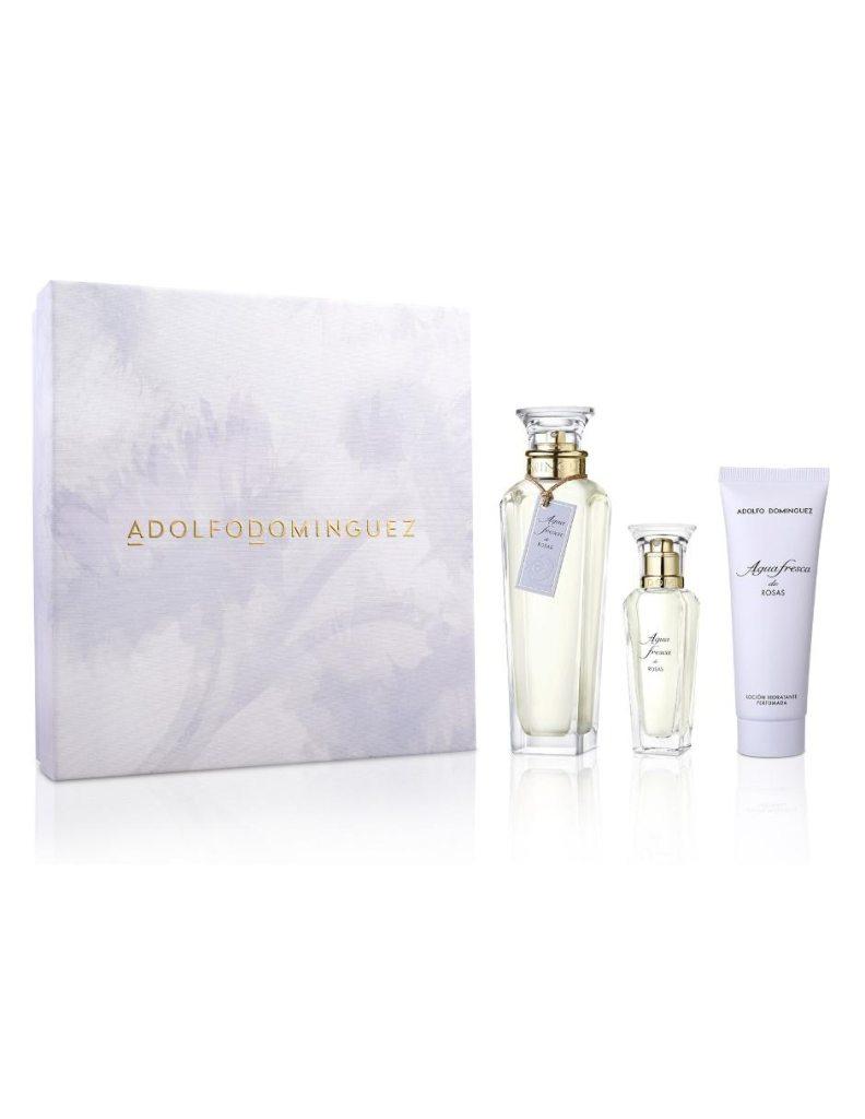 Set de fragancia para dama Adolfo Dominguez Agua Fresca de Rosas