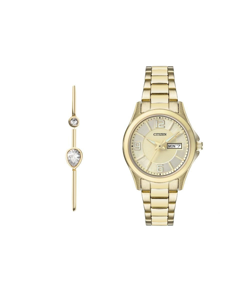Box set de reloj para dama Citizen Ladie´s 61435 dorado