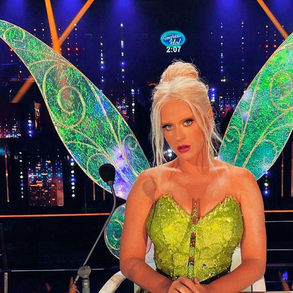 Katy Perry se decoloró las cejas para un disfraz de Tinkerbell